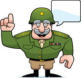 Cartoon Military General Talking Royalty Free Stock Images