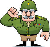 Cartoon Military General Thumbs Down Stock Photo