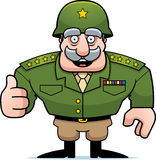 Cartoon Military General Thumbs Up Stock Photos