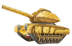 Cartoon military tank - caricature Royalty Free Stock Images