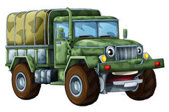 Cartoon military truck Stock Photography