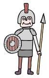 Cartoon militia. Cartoon man in arms, militia royalty free illustration