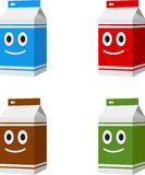 Cartoon milk boxes Royalty Free Stock Photo
