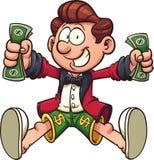 Cartoon millionaire Stock Photography