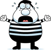 Cartoon Mime Panic Stock Images