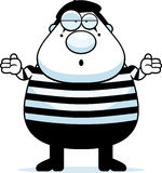 Cartoon Mime Shrug Royalty Free Stock Photo