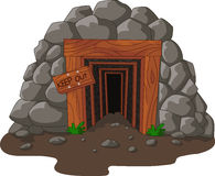 Cartoon mine entrance Royalty Free Stock Photo