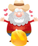 Cartoon Miner Gold Royalty Free Stock Images
