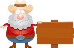 Cartoon Miner Sign Stock Photos