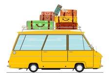Cartoon minibus. Royalty Free Stock Image