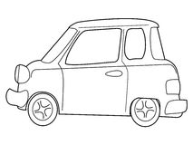 Cartoon minicar Royalty Free Stock Image