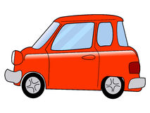 Cartoon minicar Royalty Free Stock Photo