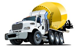 Cartoon Mixer Truck one click stock image