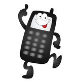 Cartoon mobile phone Stock Image