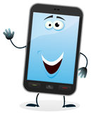 Cartoon Mobile Phone Character Stock Photo