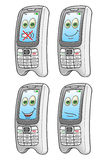 Cartoon mobile phone Royalty Free Stock Images