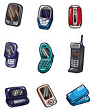 Cartoon mobile phone icon Royalty Free Stock Image
