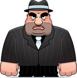 Cartoon Mobster. A big cartoon mobster in a suit Royalty Free Stock Photos