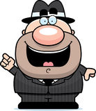 Cartoon Mobster Idea. A cartoon illustration of a mobster with an idea Stock Image