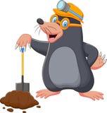 Cartoon mole holding shovel. Illustration of Cartoon mole holding shovel vector illustration