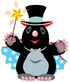 Cartoon mole wizard stock illustration