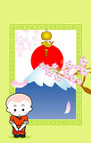 Cartoon monk Stock Images