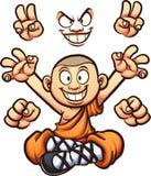 Cartoon monk Stock Photography