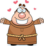 Cartoon Monk Hug Royalty Free Stock Image