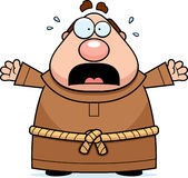 Cartoon Monk Panicking. A cartoon illustration of a monk scared and panicking Stock Photography