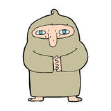 Cartoon monk in robe Royalty Free Stock Images