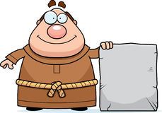 Cartoon Monk Tablet Royalty Free Stock Image