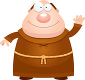 Cartoon Monk Waving Royalty Free Stock Image