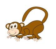 Cartoon monkey. Cartoon fun monkey on white background illustration Royalty Free Stock Images