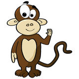 Cartoon monkey Stock Image