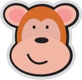 Cartoon monkey. A beautiful illustrated cartoon monkey face with smile Stock Photos