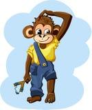 Cartoon monkey boy Stock Photography