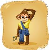 Cartoon monkey boy Stock Photo
