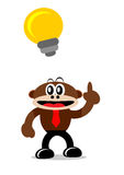Cartoon Monkey in Business Themes Stock Photos
