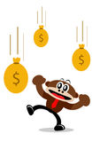 Cartoon Monkey in Business Themes Stock Photography