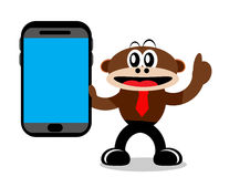Cartoon Monkey in Business Themes Royalty Free Stock Photo