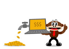 Cartoon Monkey in Business Themes Royalty Free Stock Images