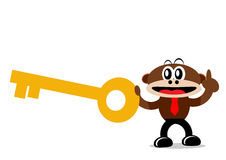 Cartoon Monkey in Business Themes Royalty Free Stock Image