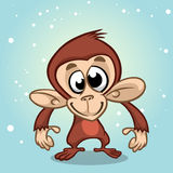 Cartoon monkey character. New year mascot stock photos