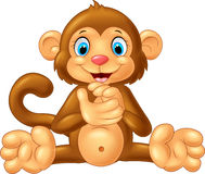 Cartoon monkey clapping hand Royalty Free Stock Images