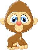 Cartoon monkey cute posing Stock Photography