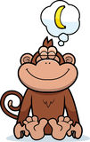 Cartoon Monkey Dreaming Royalty Free Stock Image