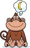 Cartoon Monkey Dreaming Royalty Free Stock Image