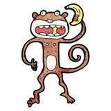 Cartoon monkey eating banana Royalty Free Stock Photo