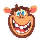 Cartoon monkey head icon. Vector illustration of smiling chimpanzee  Royalty Free Stock Image