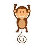 Cartoon monkey icon. Cute animal design. Vector graphic Stock Photography